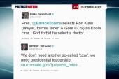 Republicans slam Obama's Ebola 'czar'