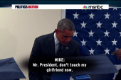 Voter warns Obama not touch his girlfriend
