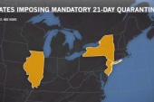 Report: WH pushes against NJ & NY quarantine
