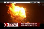 Unmanned rocket explosion stuns spectators