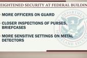 Federal buildings increase security