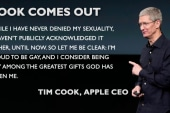 Tim Cook only openly gay Fortune 500 CEO