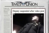 Police officer suspended over video