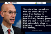 The NBA wants to legalize sports gambling