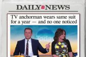 Why TV anchor wore the same suit for a year