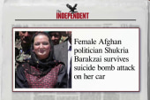 Female Afghan politician survives bomb attack