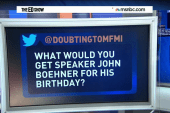 What would Ed gift birthday boy John Boehner?