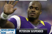 Adrian Peterson suspended without pay
