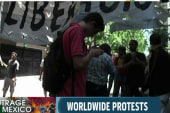 Protesters in Mexico call for global action