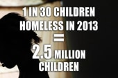 One in 30 children was homeless in 2013