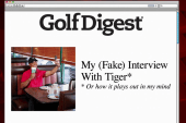 Tiger Woods not happy with fake interview