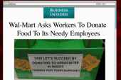 A Wal-Mart holds food collection for...