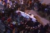 Police car attacked in Ferguson