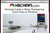 Holiday storm heads for East Coast