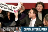 Obama interrupted during immigration speech