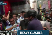 Protesters, police arrested in Hong Kong