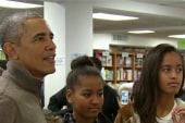 Obama family goes book shopping