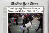 Holiday retail sales off to slow start
