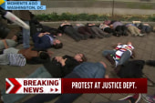 Protest at Justice Department