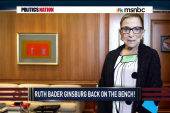 Justice Ginsberg returns to work after...