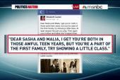 Staffer resigns over Sasha and Malia remarks