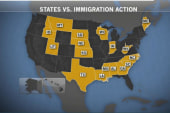17 states file suit over immigration action