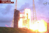 Orion capsule launches