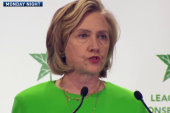 Clinton gives climate policy the silent...
