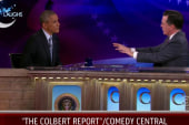 President Obama drops by Colbert