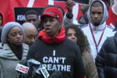 'I Can't Breathe' protestors march on