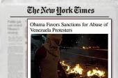 Obama favors sanctions for Venezuela abuse