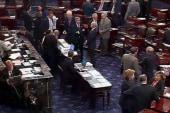 Senate takes on spending bill