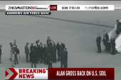 Alan Gross lands back in US
