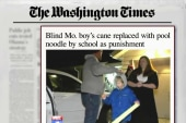 School takes blind child's cane as punishment