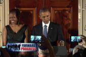The Obamas share stories of racial prejudice