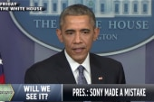 Sony defends decision amid Obama criticism