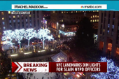 City lights dimmed to honor murdered police