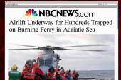 Crews work to rescue ferry passengers