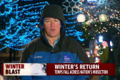 Winter roars back across the US