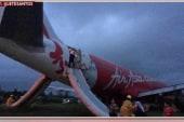AirAsia plane overshoots runway in...