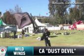 Cold 'dust devil' hits Rose Bowl