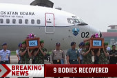 Nine bodies recovered in AirAsia search