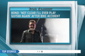 Bono speaks out about bike accident
