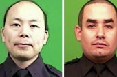 NYPD pays respects to slain officer