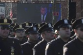 What NYPD officers' demonstration means