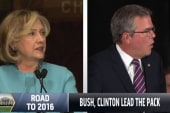 Bush, Clinton lead 2016 matchup