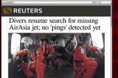 Search resumes for AirAsia black box