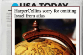 Publisher sorry for omitting Israel from...
