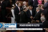 Boehner re-elected House speaker