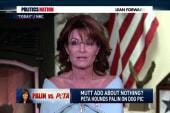 Palin fires back at PETA with Obama jab